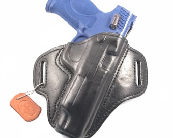 """S & W MP 5"""" 2.0 40/9 - Handcrafted Leather Pistol Holster"""