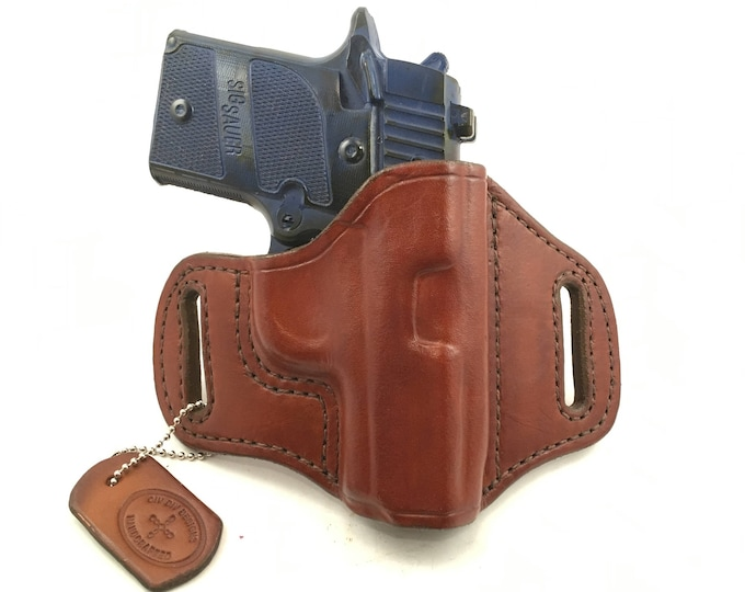 SIG p938 (zero cant) - Handcrafted Leather Pistol Holster