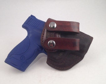 S & W MP Shield 9MM/.40 IWB - Handcrafted Leather Pistol Holster