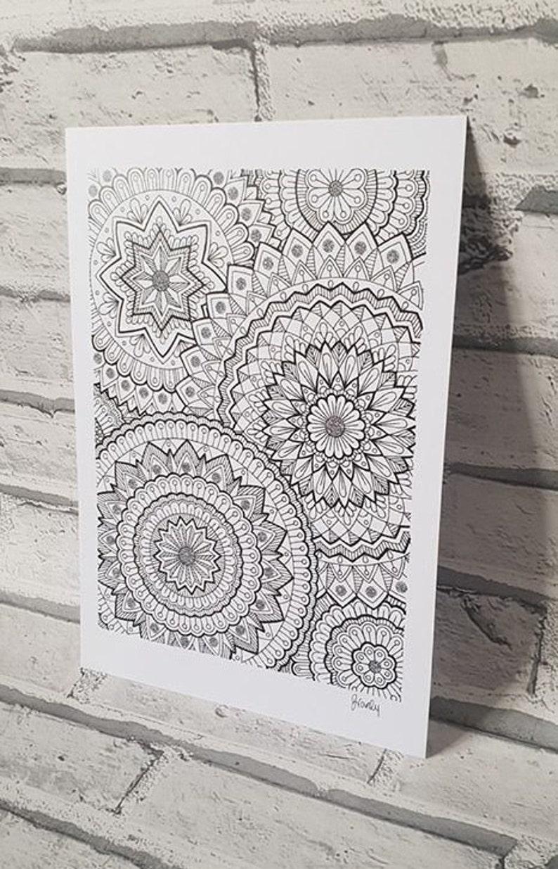 Mandala Garden Design Print Etsy