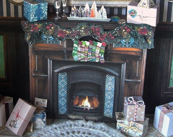 Marvelous Miniature Fireplace Etsy Home Interior And Landscaping Mentranervesignezvosmurscom
