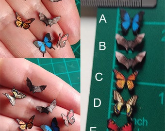 PAPER Miniature,  BUTTERFLIES and BATS - two sided printer - Scale 1:12