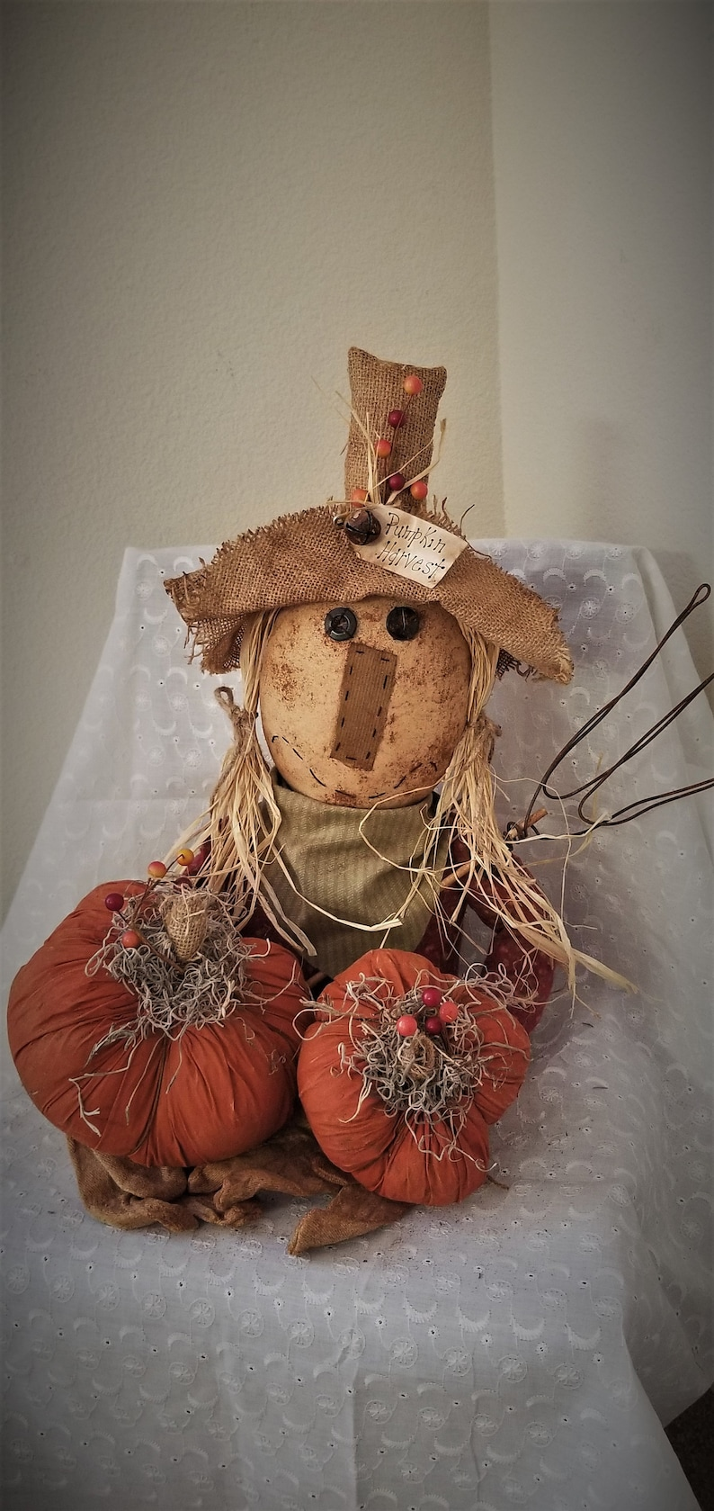ornaments dolls shelf sitters Primitive Halloween Ghost candy  bowl fillers