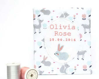 Forest Friends, Baby Album, Baby Animals album, Baby photo album, New parent gift