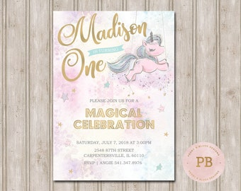 Unicorn Birthday Invitation First Baby Shower