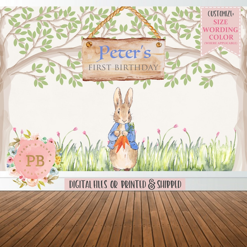 Cake Table Backdrop Peter Rabbit Baby Shower Backdrop Bunny Baby Shower Peter Rabbit Birthday Backdrop Bunny Backdrop