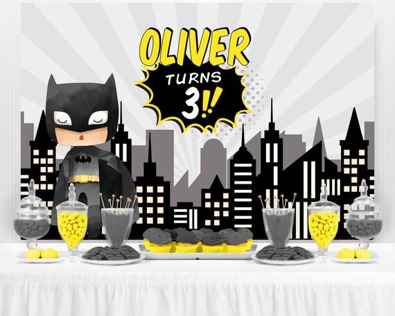 Batman Birthday Banner Personalized Party Backdrop Decoration ikban86