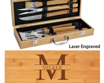 Gentil Personalized BBQ Set, Grill Gift Set, Fatheru0027s Day Gift, Groomsmen Gift, BBQ  Gift, Grilling Tools, Gift For Dad, Barbecue Set