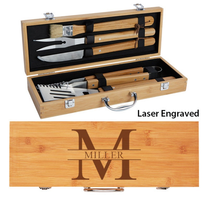 Personalized BBQ Set Grill Gift Set Father's Day Gift image 0