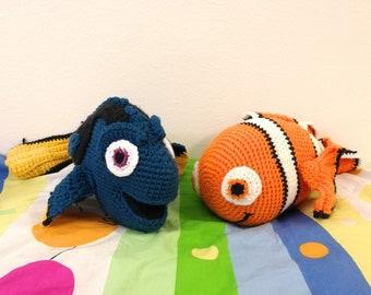 Nemo & Dory Crochet Patterns - Finding Nemo