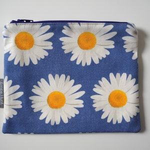 Purse with Zip Coin Purse Pocket Money Fuchsia Jewellery Pouch Cotton,Handmade White Handbag Organiser Zip Pouch Small Purse