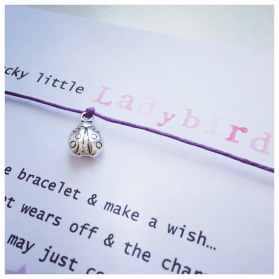 Wishing Bracelet 'lucky Little Ladybird' Wish Bracelet Gift by Etsy