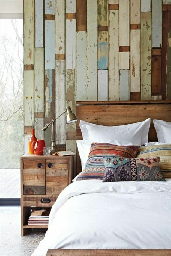 Altholz rustikal Palette Wand Holz Wand schäbige schicke Wand   Etsy