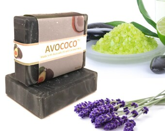 Lavender and Lime Soap, Acne Charcoal Soap, Vegan Soap, Acne Face Soap, Charcoal Soap, Acne Soap, Detox, Activated Bamboo Charcoal Soap