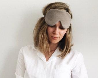 Charcoal Sleep Mask, Bamboo Silk Eye Mask, Organic Sleep Mask,  Blindfold, Eye pillow, organic gift, sleep aid