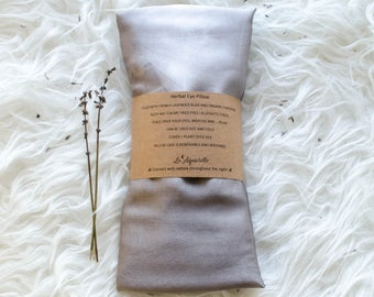 Lavender Eye Pillow, Charcoal Eye Pillow with Removable Cover, Relaxation gift aid, organic gift for her, aromatherapy pillow, Gift for Yogi