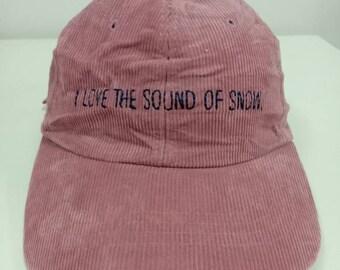 51db1f585fd Rare Vintage I Love The Sound Of SNOW Hat