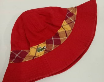 3ccb19ce3974b2 Rare Vintage LACOSTE Bucket Hat