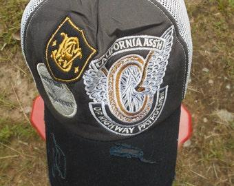 Rare Vintage CALIFORNIA ASSH For Highway Patrolmen Hat Cap e7a9edb08aa1