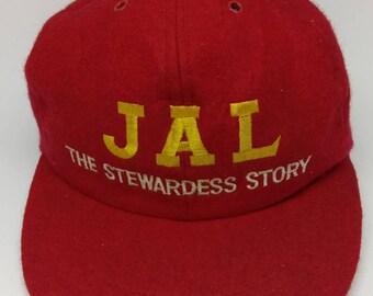 c22851b4d55 Rare Vintage JAPANESE AIRLINES Hat Cap