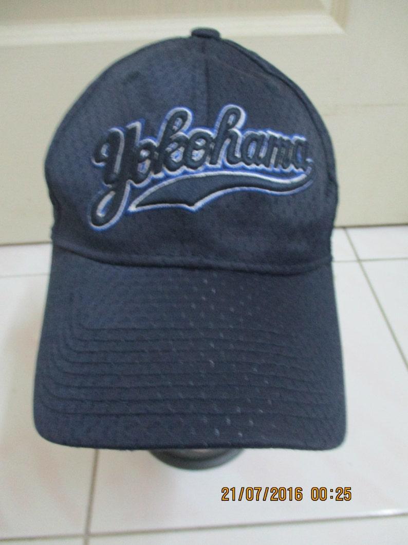 928a77cca1e Rare Vintage YOKOHAMA Cap New Era Cap Fullcap Snapback Cap