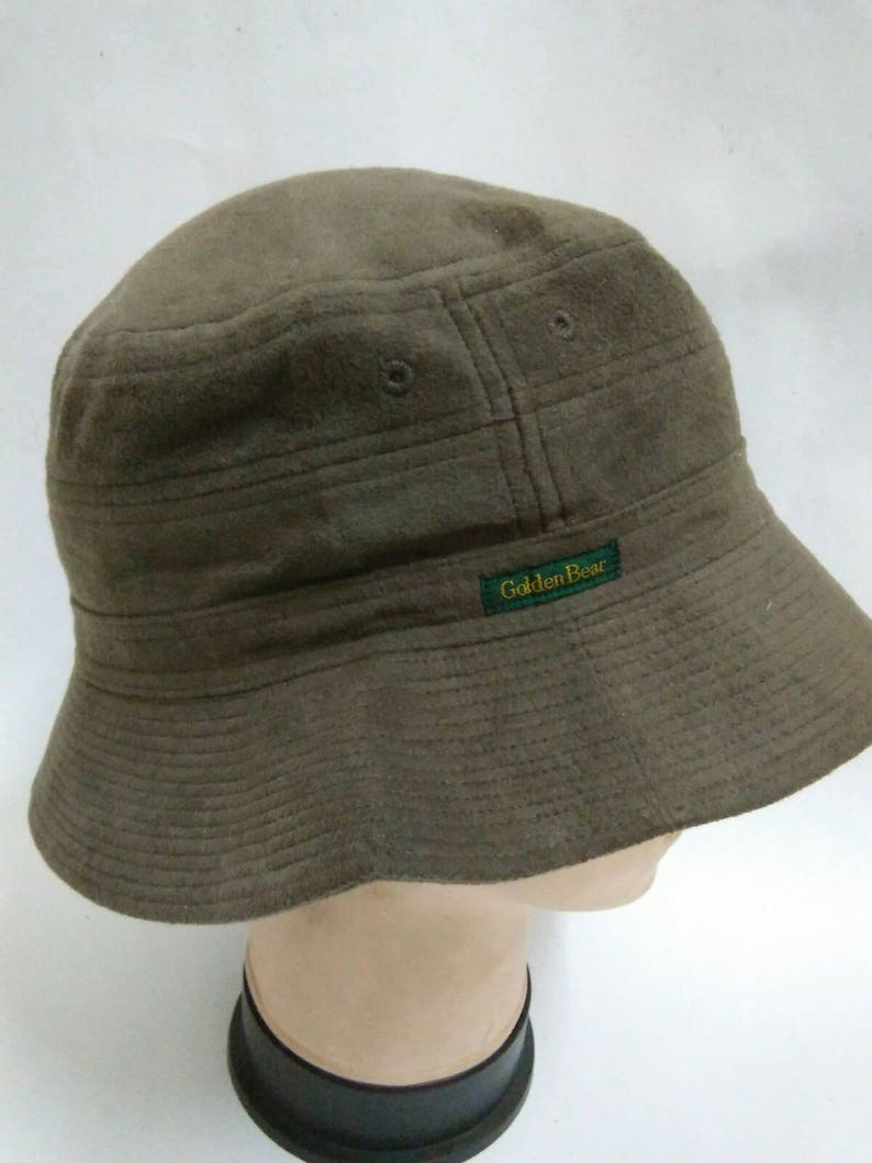 ced1df259c5b6 Rare Vintage GOLDEN BEAR Bucket Hat Golden Bear by Jack