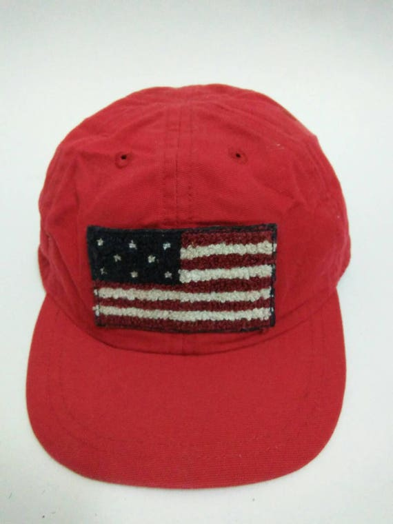 3e8f8404c1b Rare Vintage GAP Hat Cap Baby GAP Hat Cap Flag casual