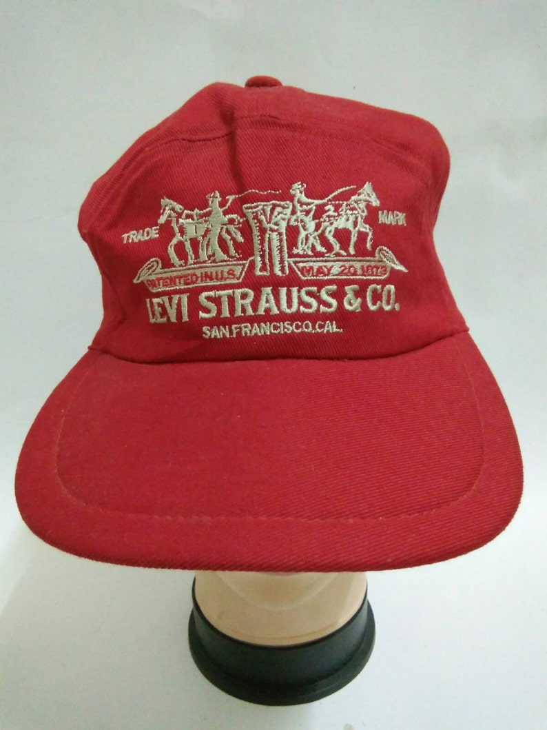 42a193fbf88f4 Rare Vintage LEVI STRAUSS   CO. Hat Cap Big logo Embroidered