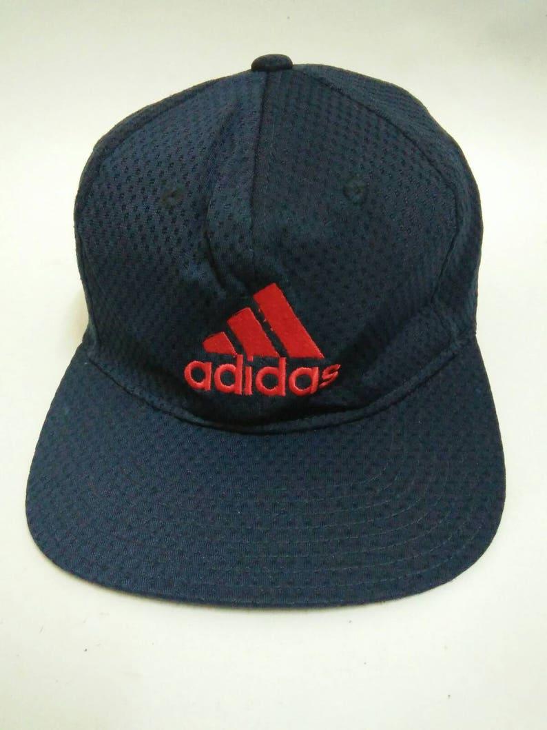 35dca33160d6d Rare Vintage ADIDAS Hat Cap, Adidas Cap, embroidered logo, Big logo, three  stripes, sportswear, Casual, swag, streetswear (533)