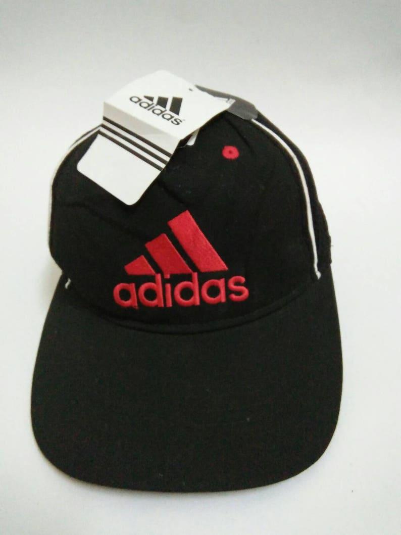 fdbfdcf876a Rare Vintage ADIDAS Hat Cap. Adidas cap embroidered logo Big