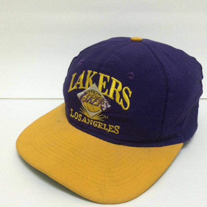 e709869d8c83a4 Rare Vintage LOS ANGELES LAKERs cap Nba sport basketball | Etsy