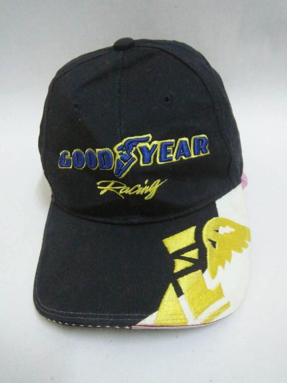 c39ccbde2f1 Rare Vintage GOODYEAR RACING Hat Cap