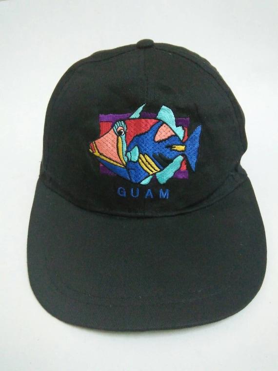 ea24446768c Rare Vintage GUAM Hat Cap Embroidered logo Big Logo Hawaii