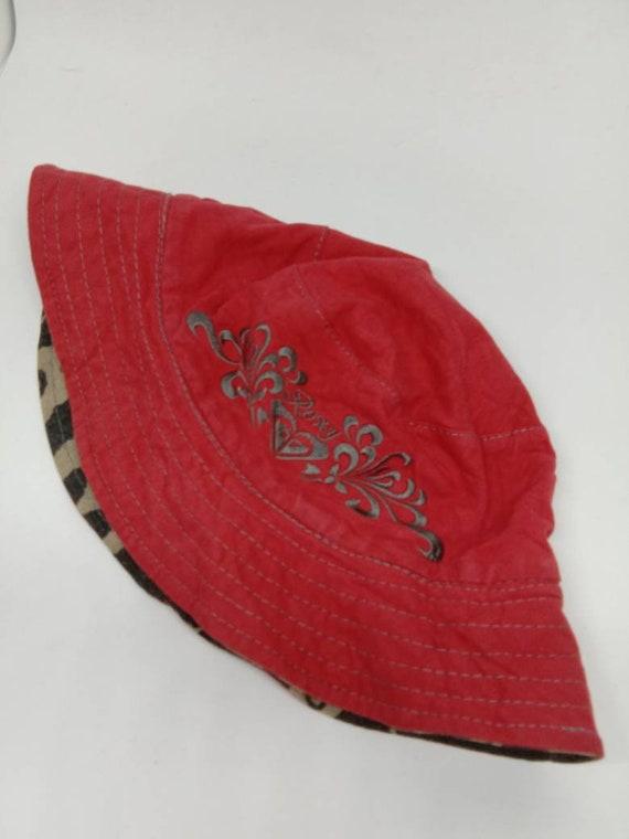 Rare Vintage ROXY Bucket Hat, Riversible Bucket ha