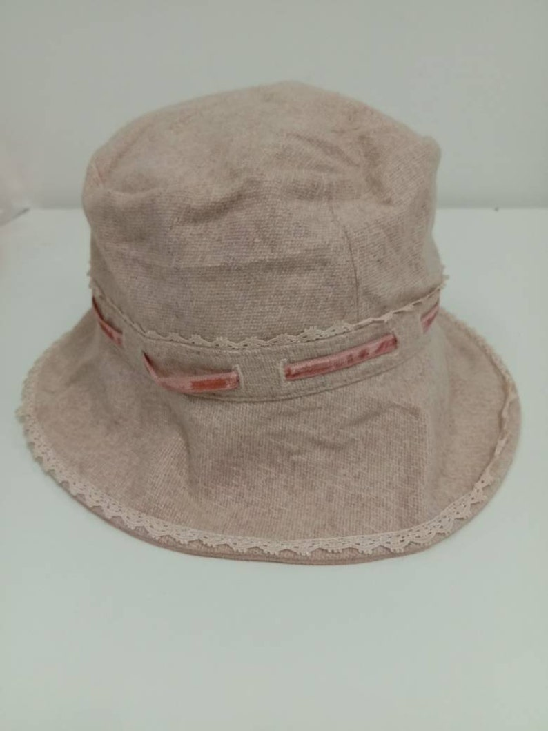Rare Vintage Rebecca Taylor Bucket Hat Embroidered Logo Etsy