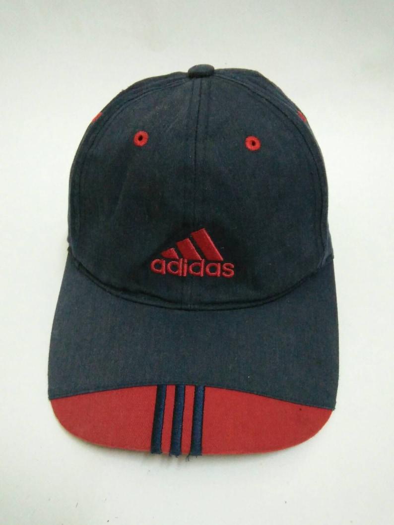 2ed7dcc8bc6 Rare Vintage ADIDAS Hat Cap Adidas Cap Big logo Embroidered