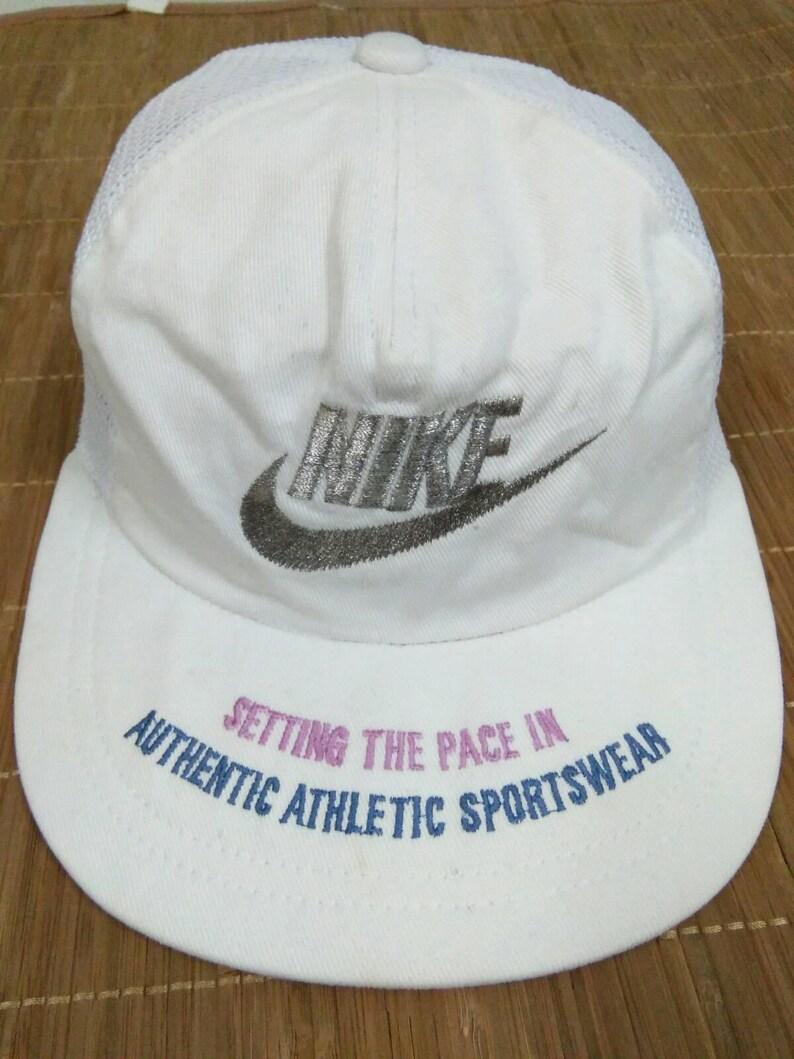 4e41dfc44d2ae Rare Vintage NIKE Hat Cap Nike Swoosh hat Big logo spell