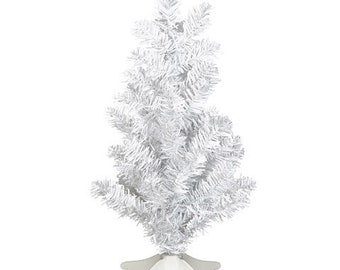 mini christmas tree white 6 x 14 inches by darice a perfect table top tree i only have two of these so get them now