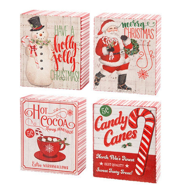 Vintage Christmas Table Decorations Glitter, 4.75 x 5.75 inches , you will  get the Hot Cocoa Sign