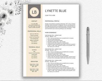 Resume Template + Resume Writing Tips + Cover Letter Design | Resume  Template Word | Download Resume And Monogram Design | Modern Resume