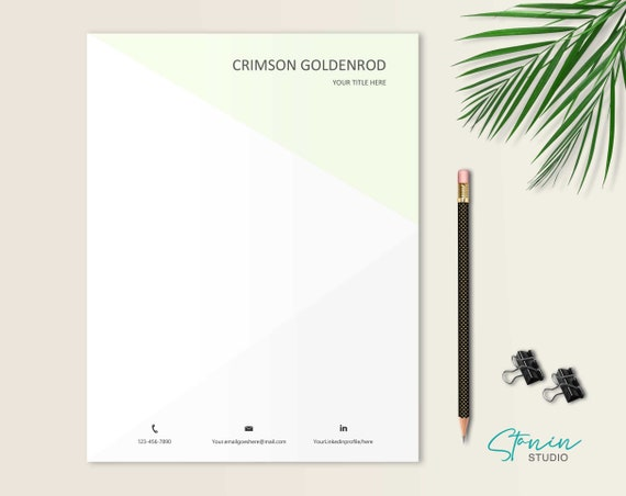 Personal Letterhead Template from i.etsystatic.com