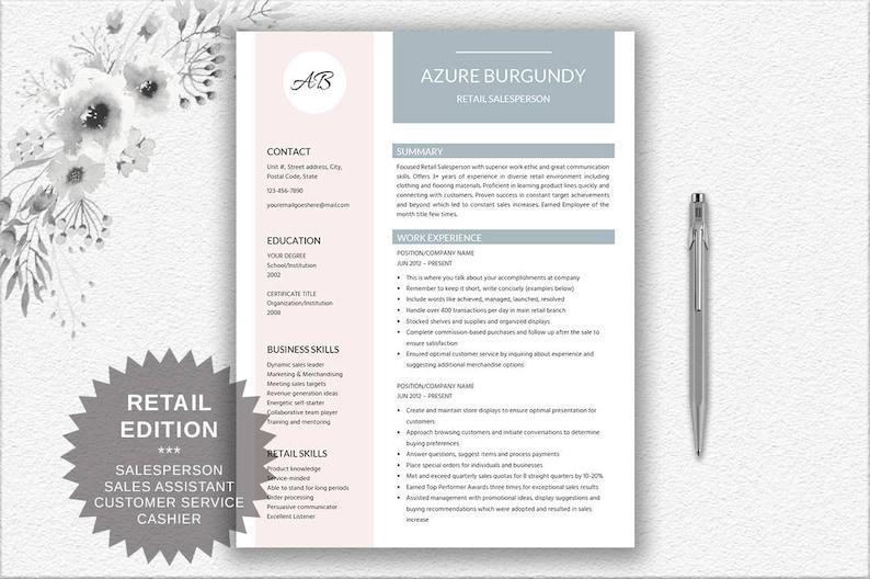 Salesperson Resume Cover Letter Design Writing Tips