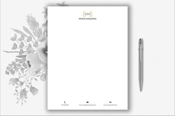 download stationery paper monogram design personal etsy