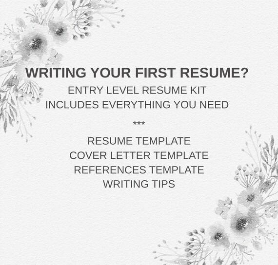 College Graduate Resume | First Job Template | Entry Level Resume Template  | Student CV Template | Job CV Starter Pack