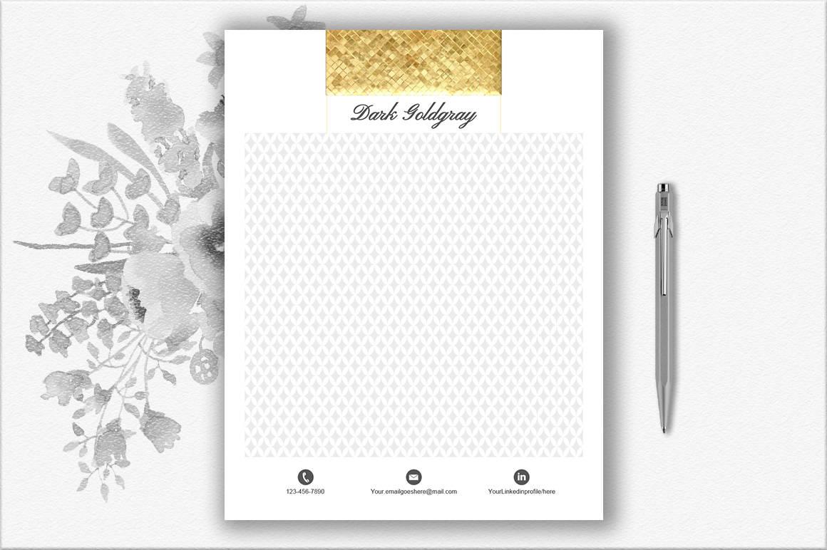 Luxus Briefkopf Vorlage Diy Briefpapier Gold Briefpapier Etsy