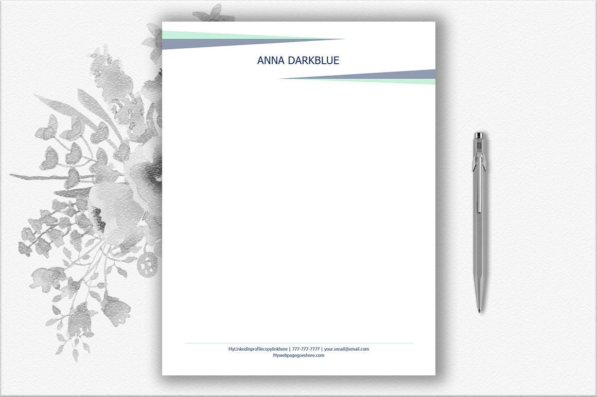 Personal Letterhead Letter Stationery Stationery Download   Etsy