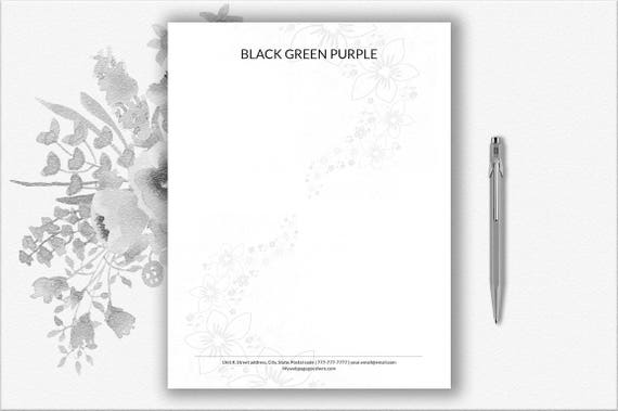 Briefkopf Vorlage Für Word Sofortiger Download Briefpapier Personalisiert Design Diy Briefpapier Papier Moderne Briefpapier Bearbeitet Werden