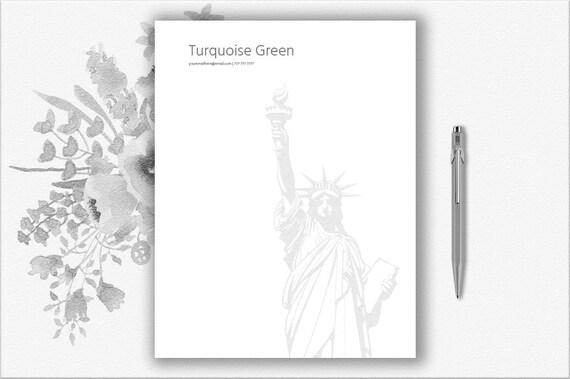 New York Design Briefkopf Vorlage In Word Bearbeitet Etsy