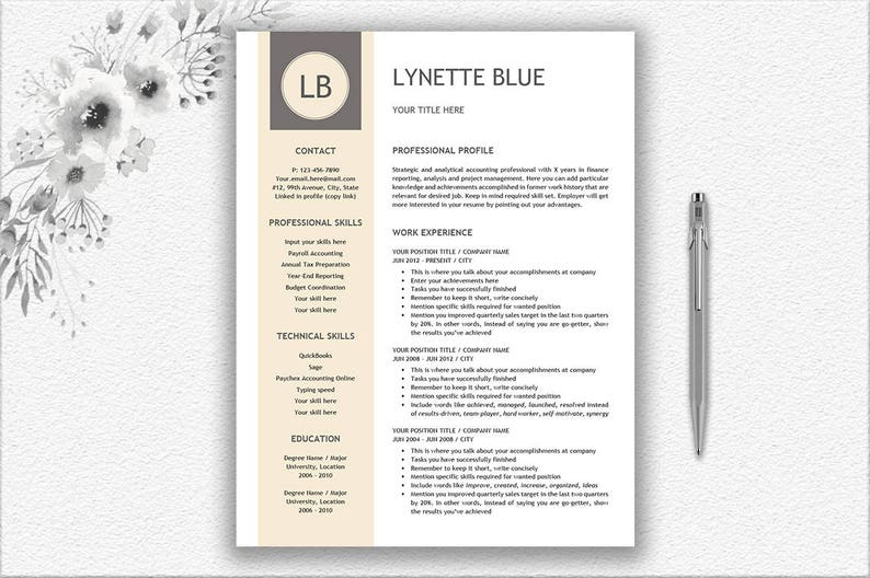 Resume Template Writing Tips Cover Letter Design