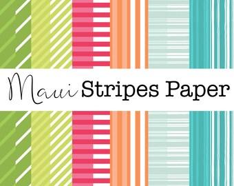 Maui Stripes Paper
